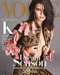 Stunning: Kendall Jenner took to her subscriber-based website KendallJ.com on Wednesday to talk about her Vogue cover