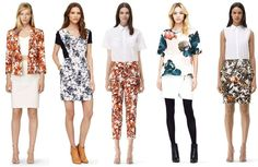 Club Monaco's floral prints make us anxious for Spring to start!