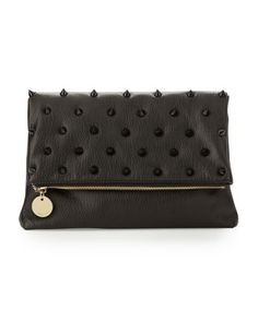 Fold-Over+Spiked+Clutch+Bag%2C+Black+by+Deux+Lux+at+Last+Call+by+Neiman+Marcus.