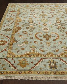 River Oak Oushak Rug at Horchow.