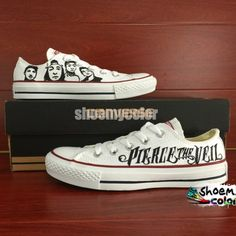 Pierce The Veil shoes... BFF+Shoes=<3 ... I kinda like the graphics on these shoes...