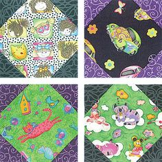 "Snowball Quilt Block Pattern - 6"" Blocks"