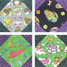 "Snowball Quilt Block Pattern - 6""Blocks"