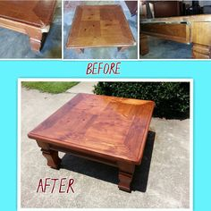 Restored Coffee Table - Repaired pet damage