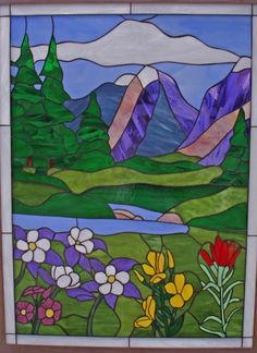 The Autumn Wildflowers Leaded Stained Glass Window Panel can be custom made to any size or colors you need for your specific project. Glass Wall Art, Stained Glass Flowers, Stained Glass Mosaic, Glass Painting, Glass Design
