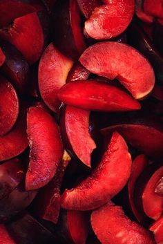 Red Plums by Alex Farnum Red Fruit, Fruit And Veg, Fruits And Veggies, Red Plum, Burgundy, Simply Red, Red Walls, Aesthetic Colors, Cherry Red