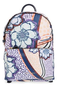 1df0dc67c6c TED BAKER Floral Print Backpack.  tedbaker  bags  leather  backpacks   Ted