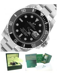 Mint 2014 Rolex Submariner 116610 LN Stainless Black Date Ceramic 40mm Watch