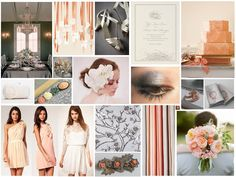 peach and black wedding theme | Parisien Romance – Inspiration for a Dove Grey & Peach Wedding