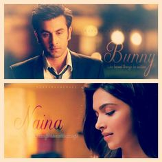 Bunny n Naina Bollywood Quotes, Bollywood Couples, Perfect Couple, Best Couple, Frozen Sister Quotes, Yjhd Quotes, Filmy Quotes, Movie Dialogues, Dark Anime Girl