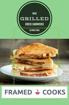 Irish cheese, thick bacon and a sliced tomato can take a regular grilled cheese sandwich to Irish deliciousness in this easy recipe!