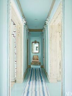 VISIT FOR BEAUTIFUL COLOR CHOICES, SITE ALSO LEADS TO OTHER SIYES WITH GREAT COLOR CHOICES ~   16 Serene Blue-Green Interiors Photos | Architectural Digest