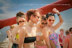 Dancing at the infamous boat party Dubrovnik, Festivals, Bikinis, Swimwear, Dancing, Boat, Couples, Party, Bikini