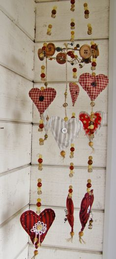 heart garland I Miss You Like, Heart Garland, Lace Heart, Pincushions, Church Ideas, Where The Heart Is, Loving U, Garlands, Fabric Crafts