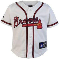 Majestic Atlanta Braves Infant Home Replica Jersey - White
