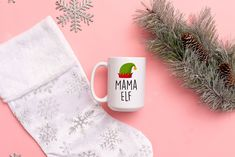 Mama, Papa, Sister, Brother, Baby Elf, Funny Christmas Mug, Christmas Mug by SweetSipsShop on Etsy Christmas Mugs, Funny Christmas, Elf Funny, Canadian Thanksgiving, Menu Printing, Looking Forward To Seeing You, Mamas And Papas, Start The Day, Engagement Gifts