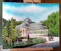Gran paseo por el Palacio de Cristal, del Parque del Retiro (Madrid). Óleo sobre lienzo, 40x50cm. Etiquetar fotoAñadir lugarEditar