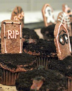 These spooky Halloween cupcakes are almost as fun to make as they are to eat, and kids will love to join in.