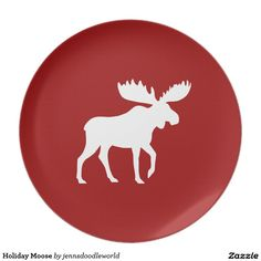 sc 1 st  Pinterest & Moose Plate ?? FloatingBlueDesigns ?? Etsy | Moose Plate | Pinterest