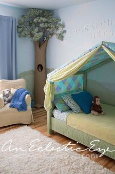 Bed Tent Diy Toddler Kids Rooms Bedroom