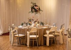 Ivory chiar bows, gold sequin tablecloths and glass candelabra centrepieces for a winter wedding in Falls Hotel Candelabra Centerpiece, Glass Candelabra, Centrepieces, Wedding Hire, Wedding Venues, Wedding Venue Decorations, Table Decorations, Wedding Tablecloths, Sequin Tablecloth