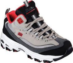 Skechers Women's D'Lites D'Liteful Lace Up Shoe,Gray/Red,US 5.5 M - http://all-shoes-online.com/skechers-3/5-5-b-m-us-skechers-womens-dlites-sneaker-biggest-us