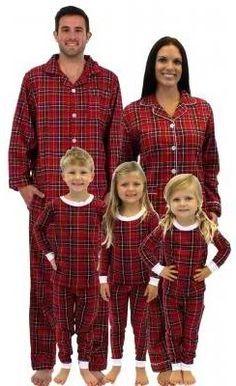 3dc086debd Holiday Matching Family Pajamas    Red Plaid Best Family Christmas Pajamas