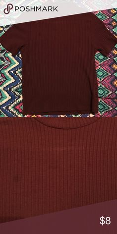 maroon top worn once or twice and has very small barely visible stains on the front. other than that it is in good condition. PacSun Tops Tees - Short Sleeve