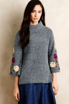Rosevine Sweater Tunic - anthropologie.com