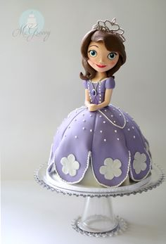 Sofia the First: How to Make a Doll cake (or ANY character cake). - McGreevy Cakes