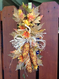 Indian Corn Autumn Swag by PickingPetals on Etsy