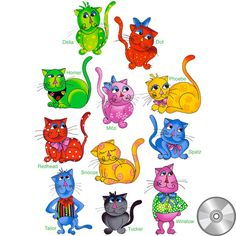 Cool Cats Embroidery Design Collection | CD