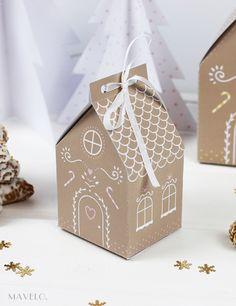 Piernikowa chatka do druku / Gingerbread House free printables / mavelo