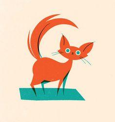 Random purposeless cat drawing. by Olly Moss, via Flickr