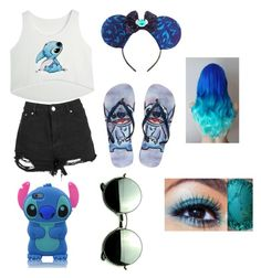 """LILO and stitch!"" by madbiv ❤ liked on Polyvore featuring Disney and Revo"