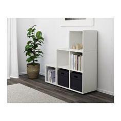 EKET Kaappi+jalat, valkoinen - valkoinen - IKEA Vinokatto matala katto makuuhuone säilytys