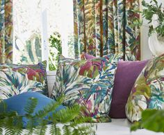 Prestigious Textiles have been designing beautiful interior fabrics and wallpapers for over 30 years. Choose from the UK's widest range of upholstery, cushion and curtain fabrics. Prestigious Textiles, Stunning Wallpapers, Printed Curtains, Fabric Suppliers, South Pacific, Tropical Garden, Curtain Fabric, Upholstery, Tapestry