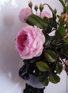 Купить Букет английских роз. Полимерная глина, холодный фарфор. - английские розы, подарок