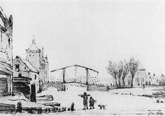 Winterscene at Spuipoort by Jacob van Strij. Neoclassicism. cityscape