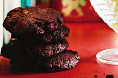 These spicy cookies hide a dark chocolate and chilli surprise inside.