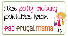 Fab Frugal Mama: Adventures in Potty Training {+ Free Printables!}
