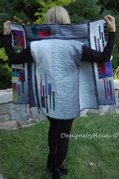 Probably wouldn't make a vest. Take idea for quilt