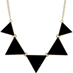 Triangle Bib Collar Necklace Charm Unique Necklace Geometric Enamel Ne (161.160 IDR) ❤ liked on Polyvore featuring jewelry, necklaces, enamel charms, charm necklace, triangle jewelry, collar charms and bib jewelry
