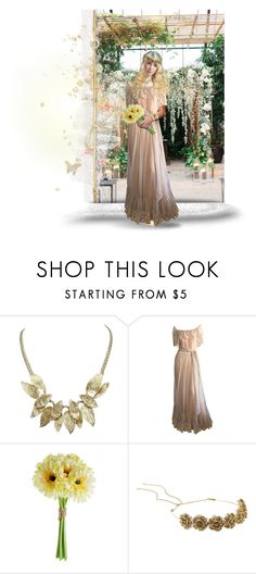 """Bohemian Style Wedding"" by chileez ❤ liked on Polyvore featuring Victor Costa, Jennifer Behr, Atmos&Here, Summer, boho, Bohemian and funfashion"
