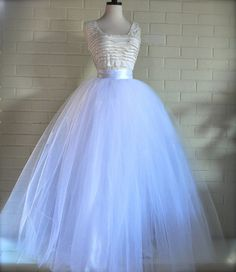 Full length tulle skirt. Tulle lined with by TutusChicBoutique, $375.00