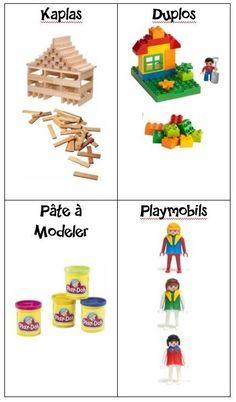 Etiquettes pour caisses, tiroirs, étagères de jouets Autism Classroom, Classroom Decor, Classroom Signs, Play Doh, Activities For Kids, Crafts For Kids, School Organisation, Kids House, Teacher Resources
