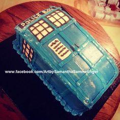 Small Dr. Who Cake from samsammcustomcakes