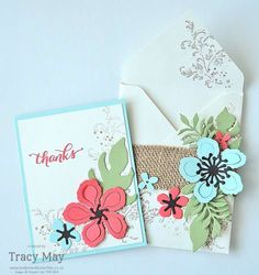 Botanical Builder Framelits Dies from Stampin' Up! UK Demonstrator Tracy May make & take