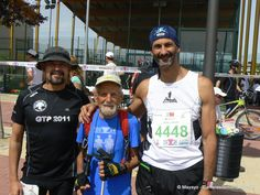 Trail Running: Salida 100k en 24h de Madrid con tres leyendas del ultratrail patrio: Anaime (izq), Juan Carlos (dch) y Don Mariano Blasco, ultrero de 82 años