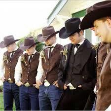 Really live thus Groom Attire, Groom Dress, Groom And Groomsmen, Cowboy Groom, Cowboy Hats, Casual Chic, Nice Dresses, Winter Weddings, Wedding Ideas
